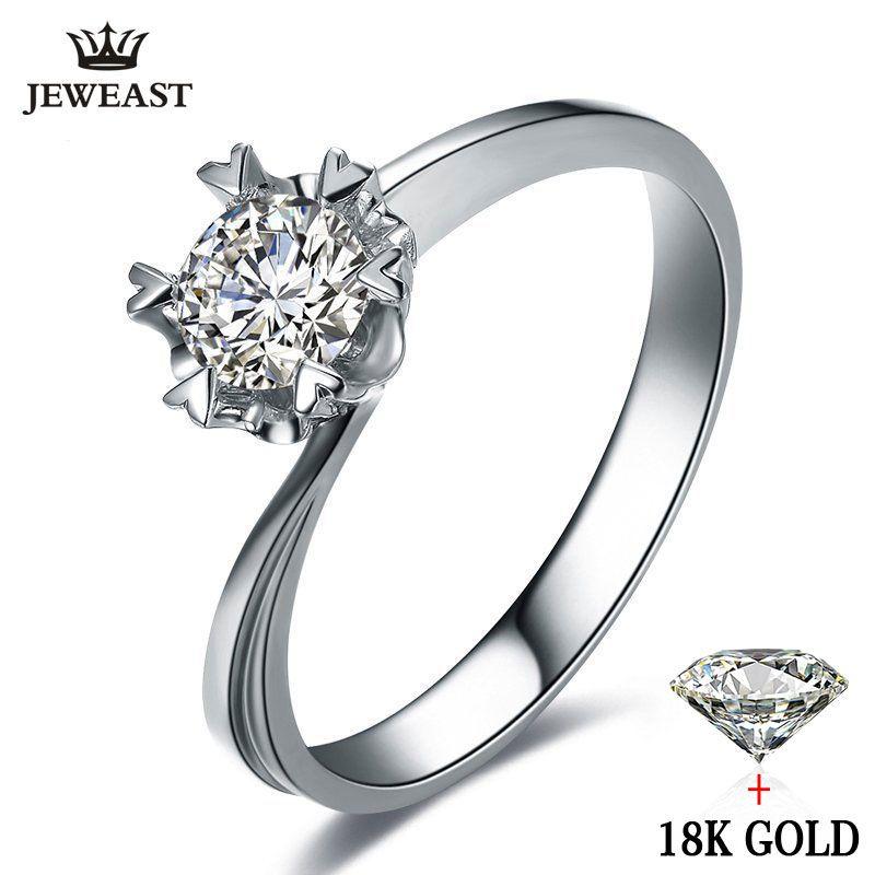Natürliche diamant Ring 18 karat Gold Hochzeit Schneeflocke Romantische Vorschlagen Engagement Frauen Liebhaber Hochzeitstag-partei Neue Gute Anpassen
