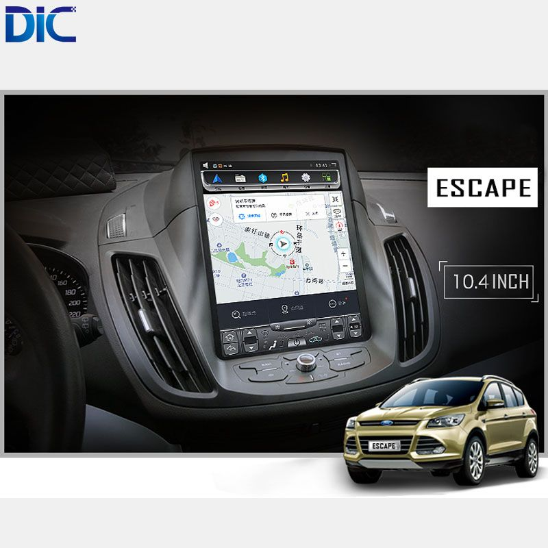 DLC Android 6.0 GPS navigation player Car Styling radio vertical screen mirror link video audio For ford Kuga Escape 2013-2017