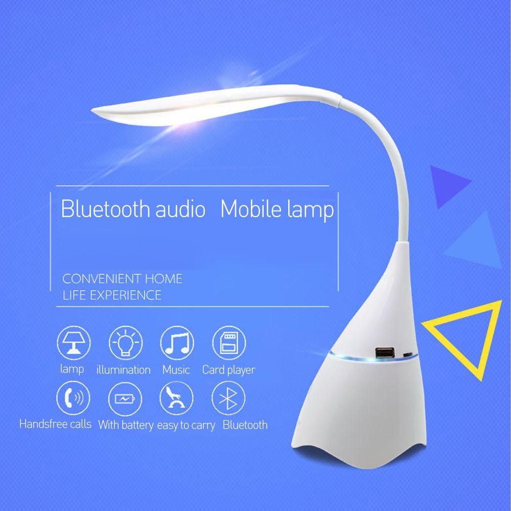 Dr. Speicher Bluetooth Audio Lampe USB Gadgets Led schreibtisch tischlampe DC5V lade magie lautsprecher einstellbare helligkeit lesen lig