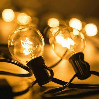 Patio Lumières G40 Globe Guirlande Lumineuse Fête de Noël, Blanc Chaud 25 Clair Vintage Ampoules 25ft, Décoratif Cour Extérieure guirlande