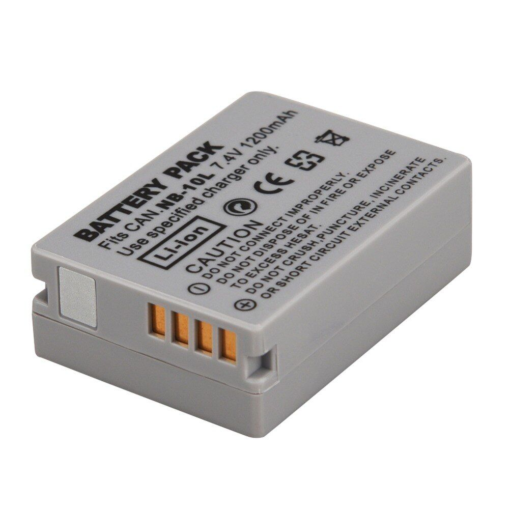 1pc 1200mAh NB-10L NB10L NB 10L Replacement Digital Battery for Canon G1X G15 G16 SX40HS SX50HS SX60HS SX40 SX50 SX60 HS Battery