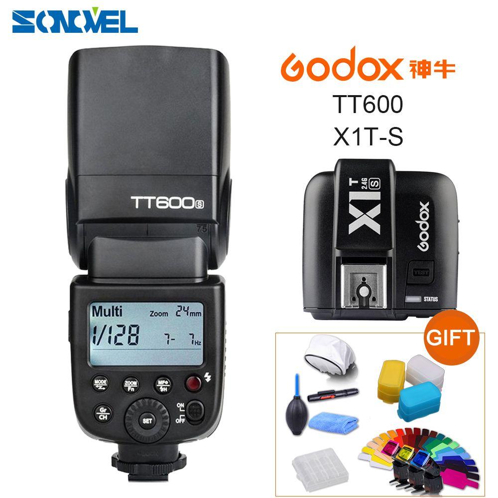 Godox TT600s HSS GN60 2.4G Camera Flash Speedlite + X1T-S Transmitter for Sony A9 A7 A7S A7R A7 II A6500 A6300 A6000 A99 RX10
