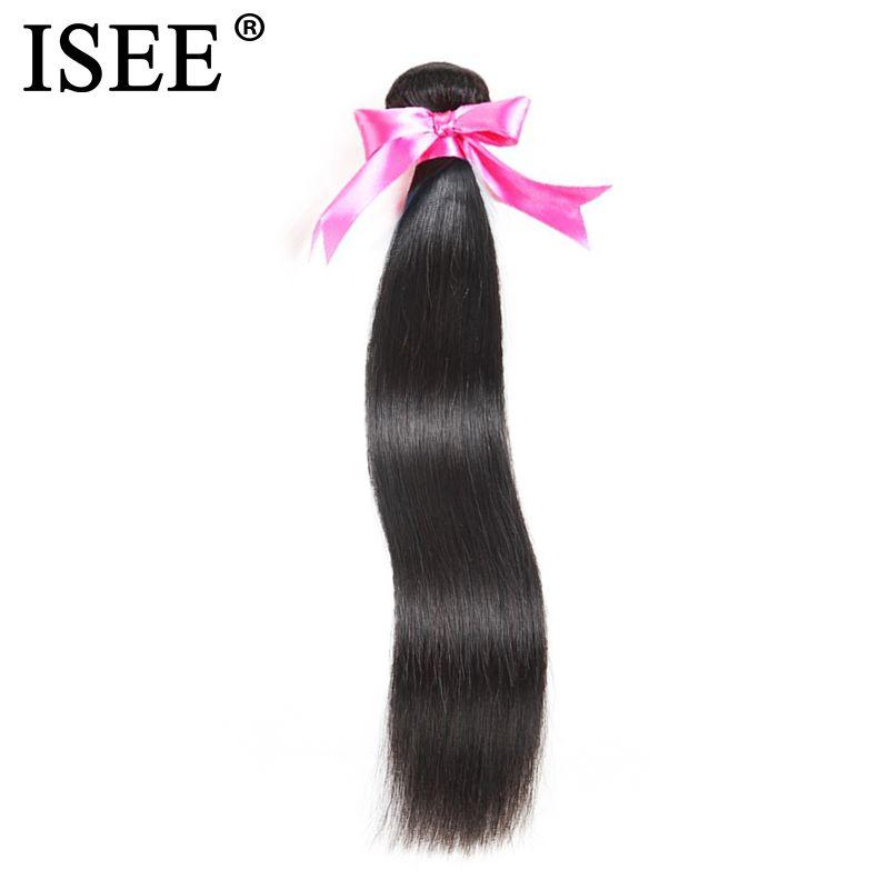 ISEE cheveux malaisiens cheveux raides paquets 100% Remy Extension de cheveux humains couleur naturelle 1/3/4 faisceaux cheveux raides tisse