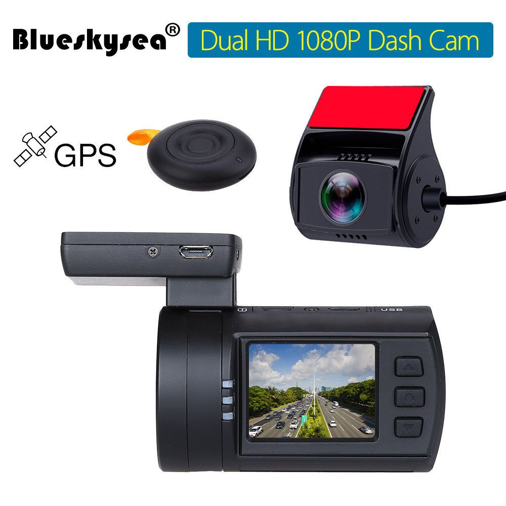 Blueskysea Mini 0906 Dual Dash Camera Full HD 1080P Car Dash cam Sony IMX291 Sensor Dual Channel Vehicle Dashboard Recorder