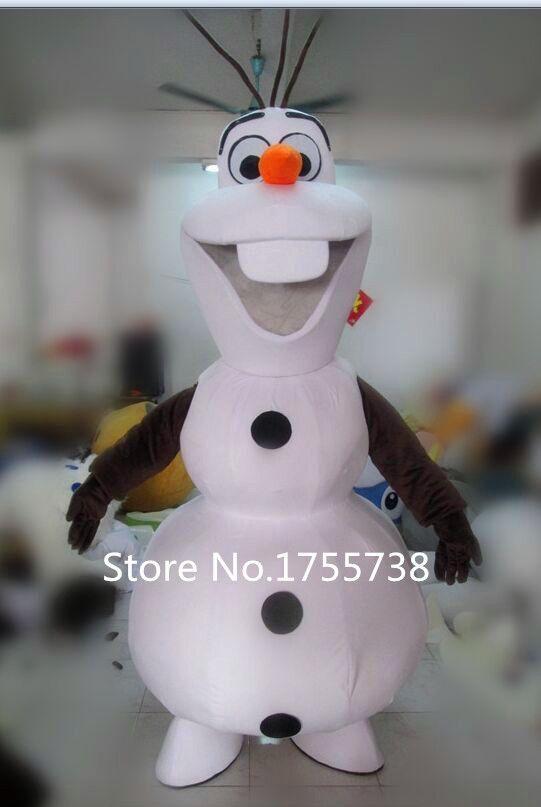 Adulte Nouveau Olaf Bonhomme De Neige Costume De Mascotte Fête De Noël Vêtements Costume