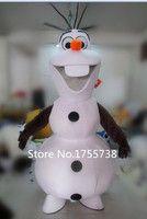Adulto nuevo disfraz de mascota Olaf muñeco de nieve ropa traje de fiesta de navidad