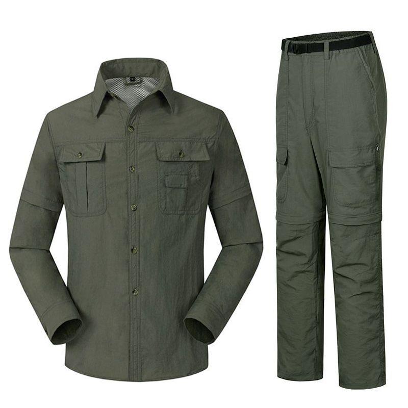 La chemise à séchage rapide en plein air pour hommes ARCTIC LIGHT + pantalon costume amovible randonnée Camping vêtements de pêche