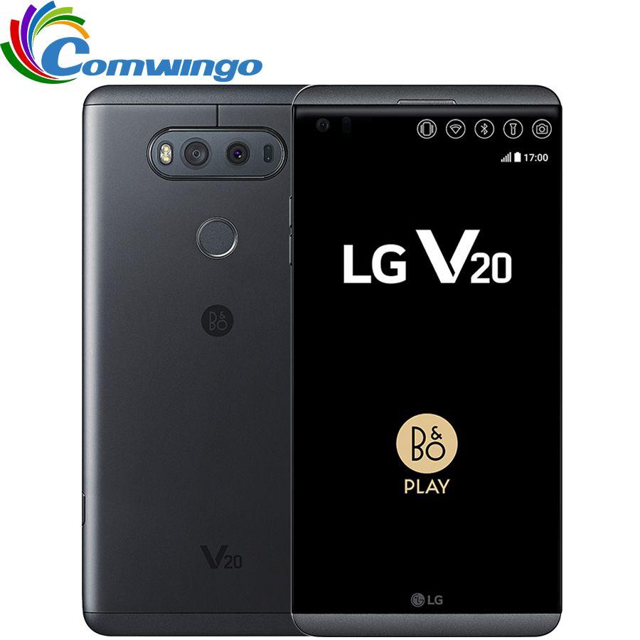 Original Unlocked LG V20 4GB RAM 64GB ROM Android OS 7.0 5.7''inch screen Snapdragon 820 16MP+8MP Camera 4G LTE Smartphone lgv20