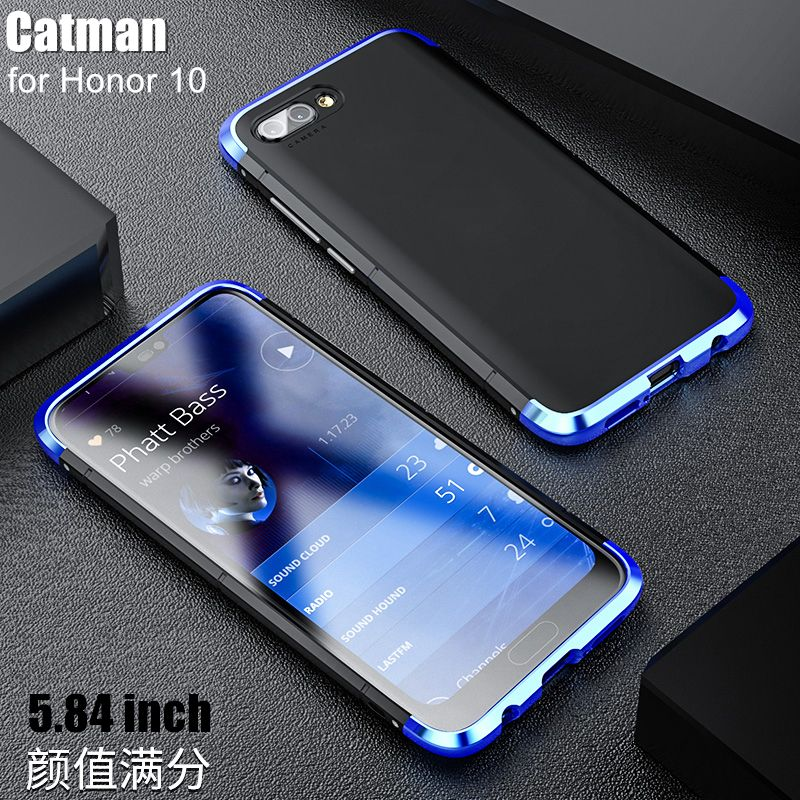 honor 10 case which based on 5.84inch funda luxury aviation aluminum metal+ <font><b>Matte</b></font> PC back cover case for huawei honor 10