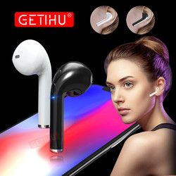 GETIHU Bluetooth Earphone Headphones Phone Sport Headset in Ear Buds Wireless Mini Earphones Headphone Earpiece For iPhone X 7 8