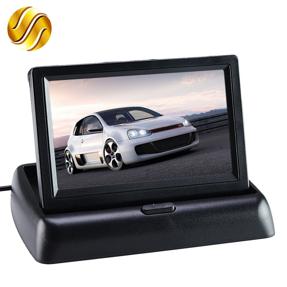 Car Monitor 4.3 Display for Rear View Camera Foldable Color TFT LCD  4.3 Inch HD Screen For Car Reverse
