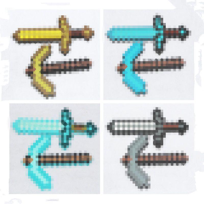 Minecraft Toys Minecraft Foam Diamond Sword Pickax Axe Shovel Gun EVA <font><b>Model</b></font> Toys Gift Toys For Kids Birthday Christmas Gifts