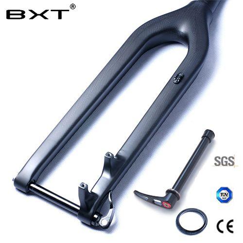 VTT Carbone Fourche 29er Descente DH Fourche De Vélo Bicicletas Rigide Vtt Fourche Avant Fibre rockshox Conique Axe Traversant 15mm