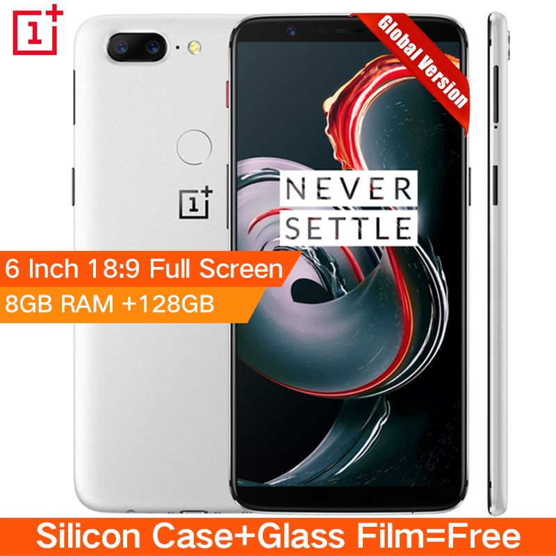 Original Oneplus 5T 5 T 8GB 128GB Snapdragon 835 Octa Core Smartphone 6.0120.0MP 16.0MP Dual Camera LTE 4G Android 7.1 OxygenOS