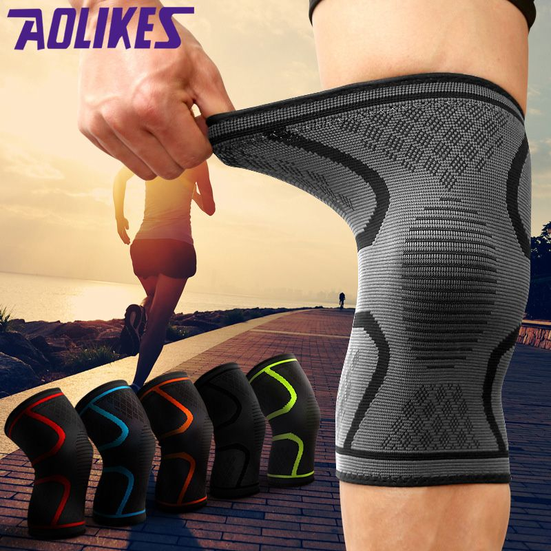 2pcs/lot Outdoor Sports Fitness Knee Pads Support Patella Guards Gym Protector Silicone Antislip Shock Absorption For Men Women