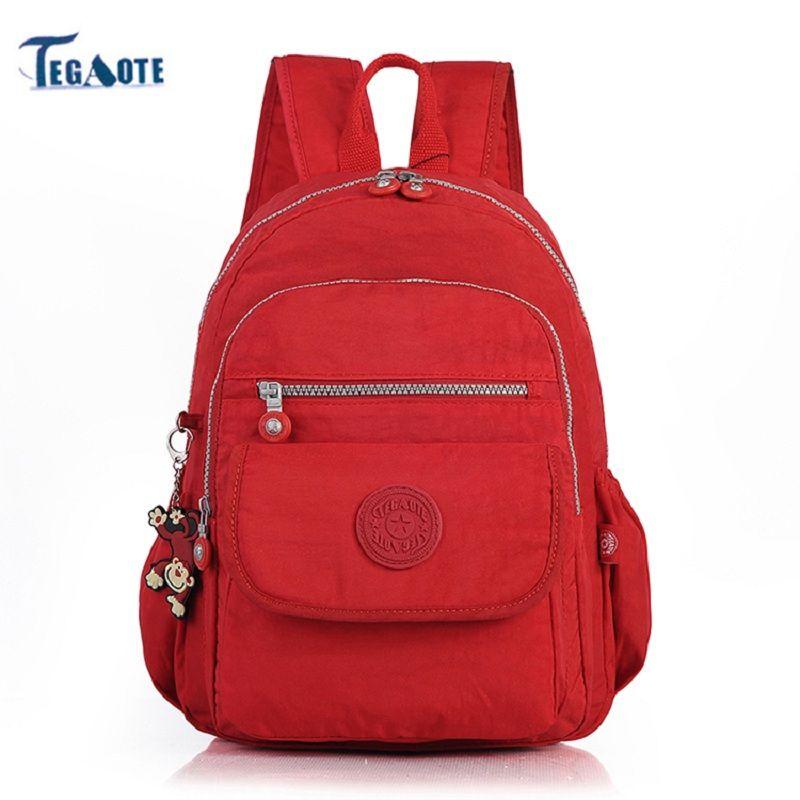 TEGAOTE 2018 Small Backpack for Teenage Girl Backpacks Bolsa Mochila Feminina Escolar Casual Nylon Waterproof Mini Women Bagpack