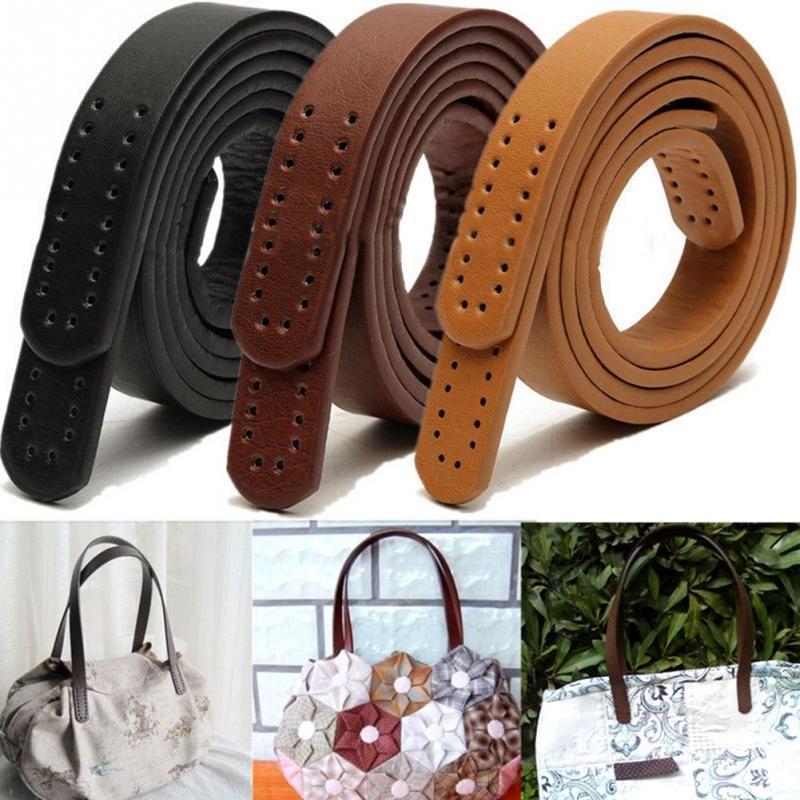 1 Pair Hot Women Girl PU Leather Purse Shoulder Handbag DIY Sewing Strap Handle Replacement 3 Color Bag Accessories