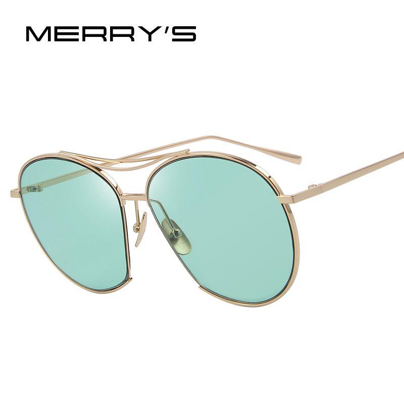 Merry's Для женщин взрыва Мода Солнцезащитные очки для женщин классический Брендовая Дизайнерская обувь Солнцезащитные очки для женщин Винта...