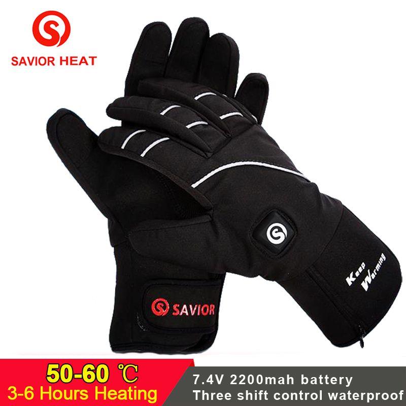 RETTER Elektrische batterie Beheizte Handschuhe Wasserdichte Touchscreen Chemische hand wärmer Handschuhe für winter sport radfahren radfahren reiten