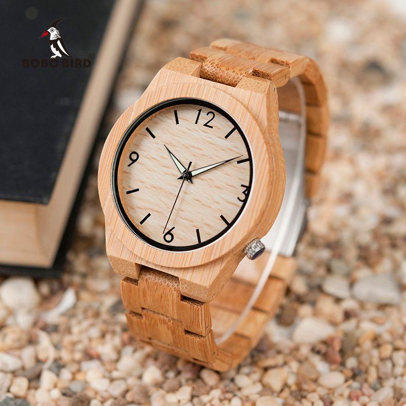 relogio <font><b>masculino</b></font> BOBO BIRD Wood Watch Men Top Brand Luxury Wooden Timepieces Great Men's Gift Drop Shipping W-D27