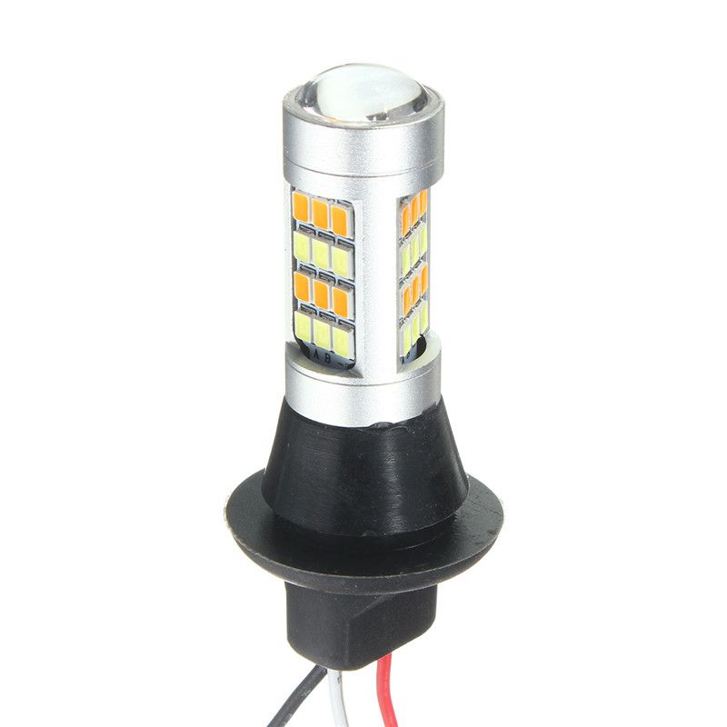 2x DC 12-24 V T20 7443 2835 42SMD 1000LM 20 W De Voiture Led Double Couleur Switchback Lampe Ampoule Daytime Running Light DRL