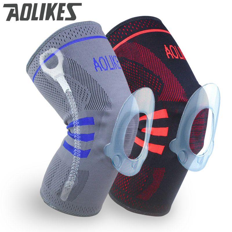 1 pc genouillère de basket Compression genou soutien manches blessure récupération Volleyball Fitness sport sécurité sport protection gear