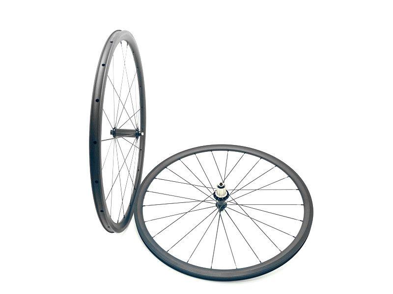 Carbon bike straße räder 700C 30mm Ultraleicht fahrrad räder 3 K und UD matte carbon 30mm räder klammer rad 24mm breite
