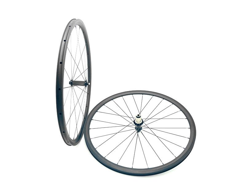 carbon bike road wheels 700C 30mm Ultralight bicycle wheels 3K and UD matte carbon 30mm wheels clincher wheel 24mm width
