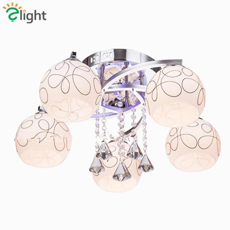 2016 Modern Simple Living Room Frosted Glass Dimmable Led Chandelier Lustre De Cristal Ceiling Chandelier For Bedroom