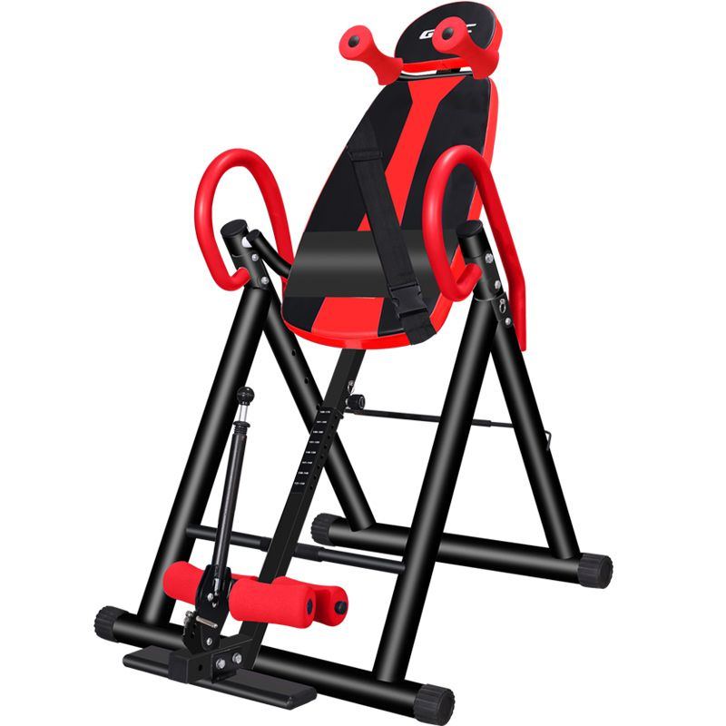 Foldable Inversion Therapy Table Back Stretcher Machine Inverted Upside Down 6 Safety Stretching Equipment Height Adjustable