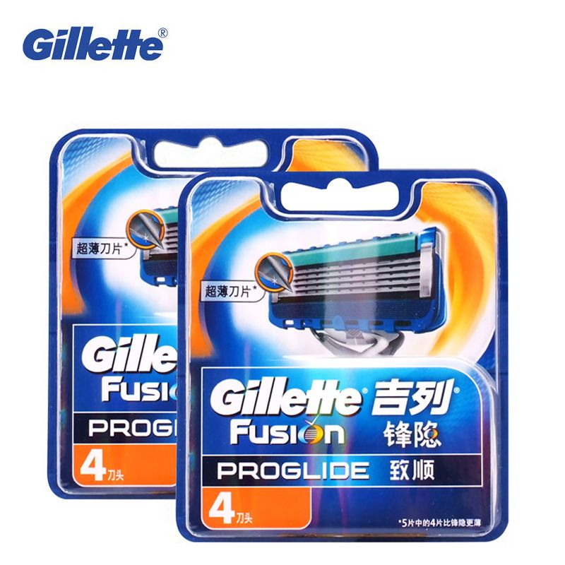 Original Gillette Fusion ProGlide Manual Razor Blade Men'S Shaving Brand Shave Facial Beard Shaver Razors Blades 8pcs For Men