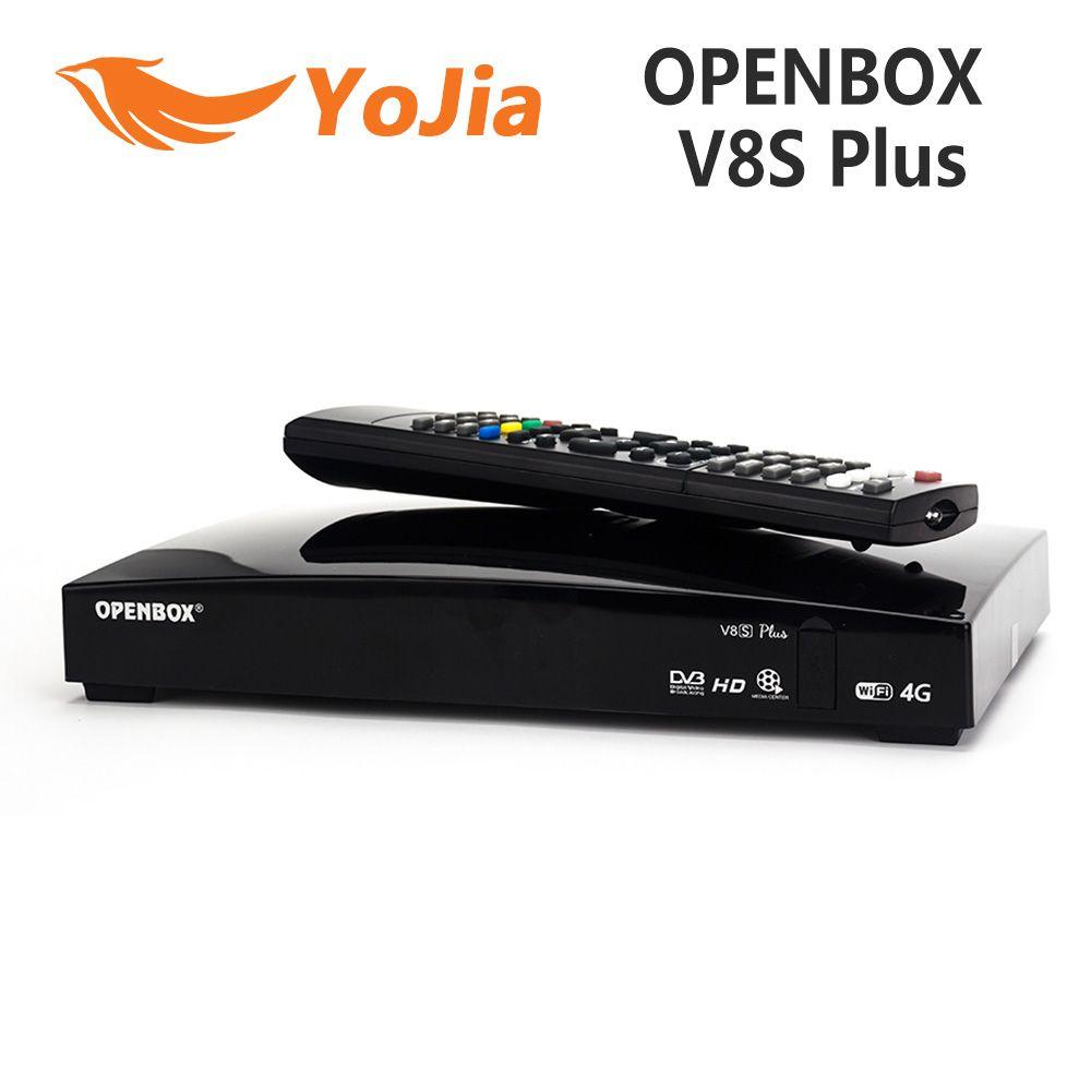 Original Openbox V8S Plus DVB-S2 récepteur Satellite numérique S-V8 WEBTV Biss clé 2x USB Slot USB Wifi 3G youporno NEWCAMD