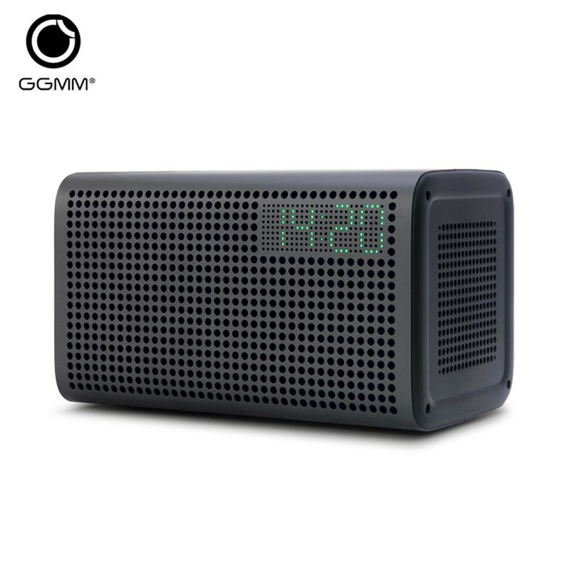 GGMM E3 Bluetooth Speaker WiFi Speaker Stereo Sound with LED Clock Alarm USB Charging Port for Apple iOS Android Windows Spotify
