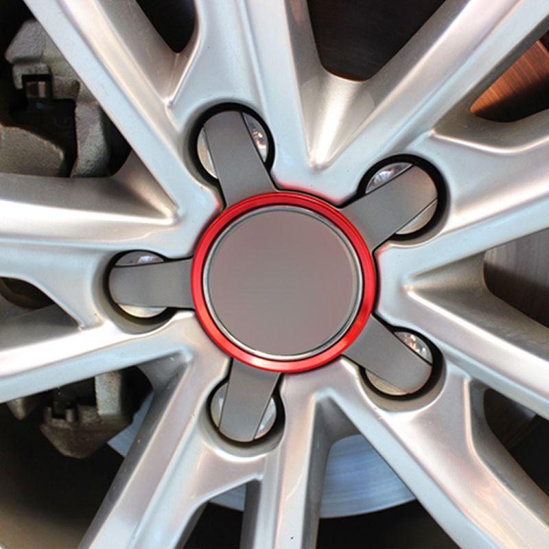 Carmonsons Métal Pneus Roues Roue Cercle revêtement d'habillage pour Audi A3 A4 A5 A6 A7 A8 Q3 Q5 Q7 S3 S4 S5 S6 S7 S8 Style De Voiture