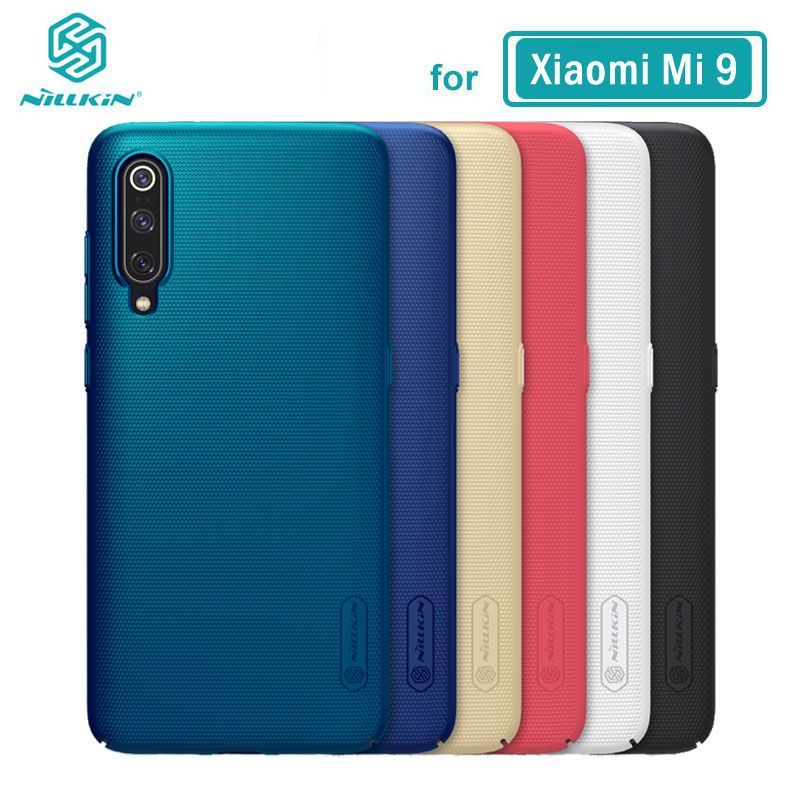 XiaoMi Mi 9 etui Mi9 housse Nillkin écran givré PC étui rigide pour XiaoMi Mi 9 SE avec support pour téléphone