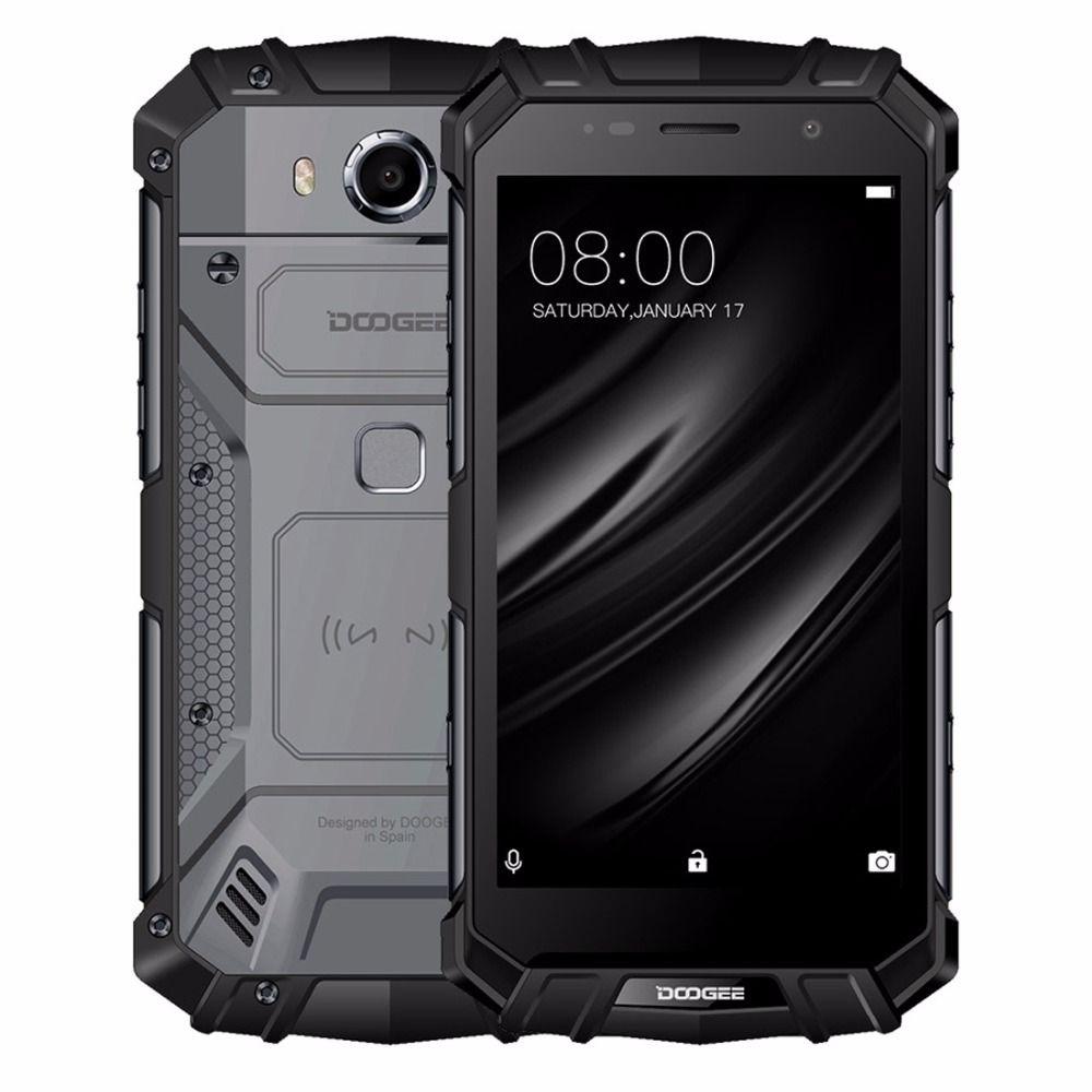 DOOGEE S60 lite <font><b>IP68</b></font> Waterpoof Mobile phone 5580mAh 5.2 FHD 4GB+32GB MT6750T Octa-Core 16MP Fingerprint Android 7.0 Smartphone