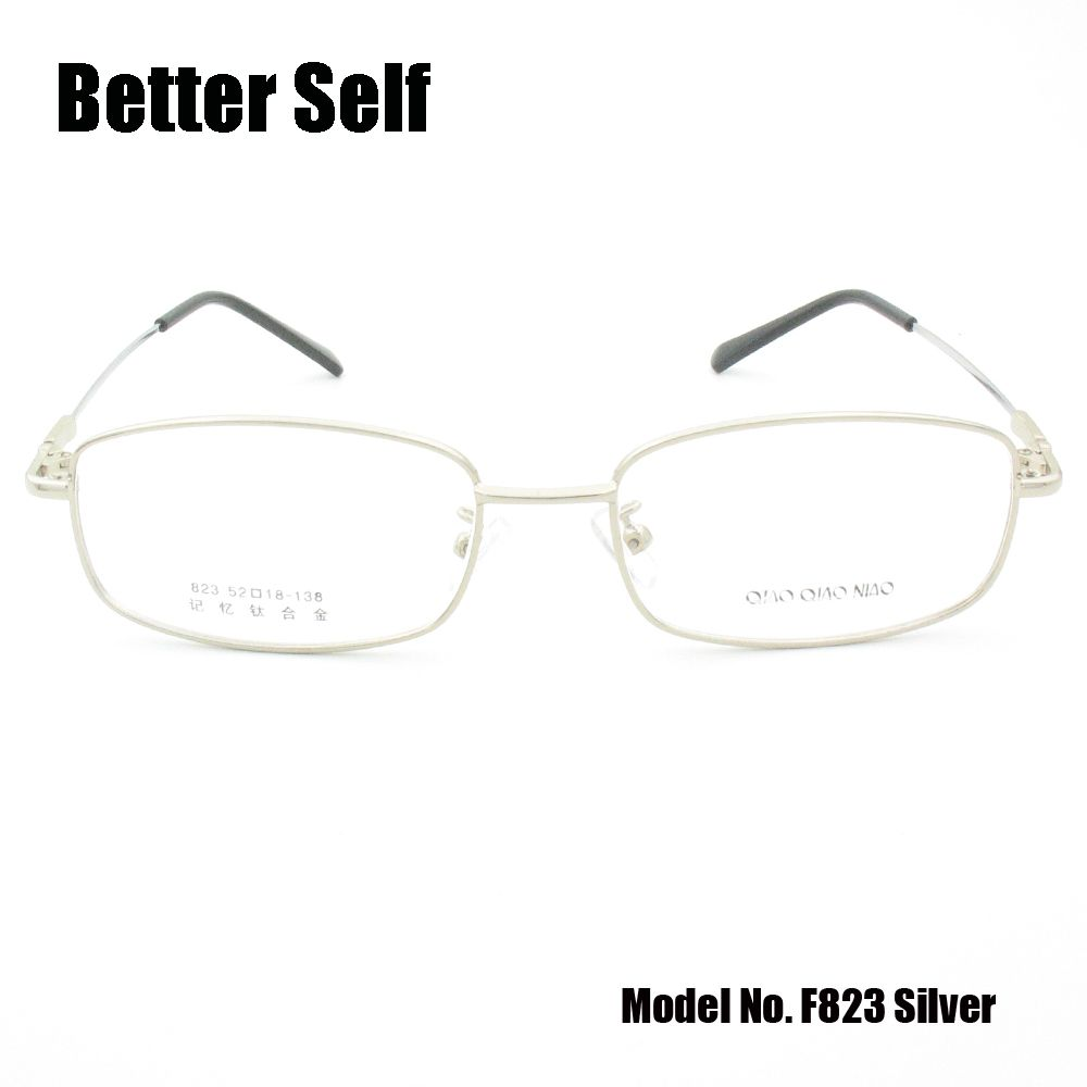 Les lunettes de vue de Temple de titane de mémoire de lunettes de jante complète peuvent faire des montures optiques en métal de myopie mieux auto F823