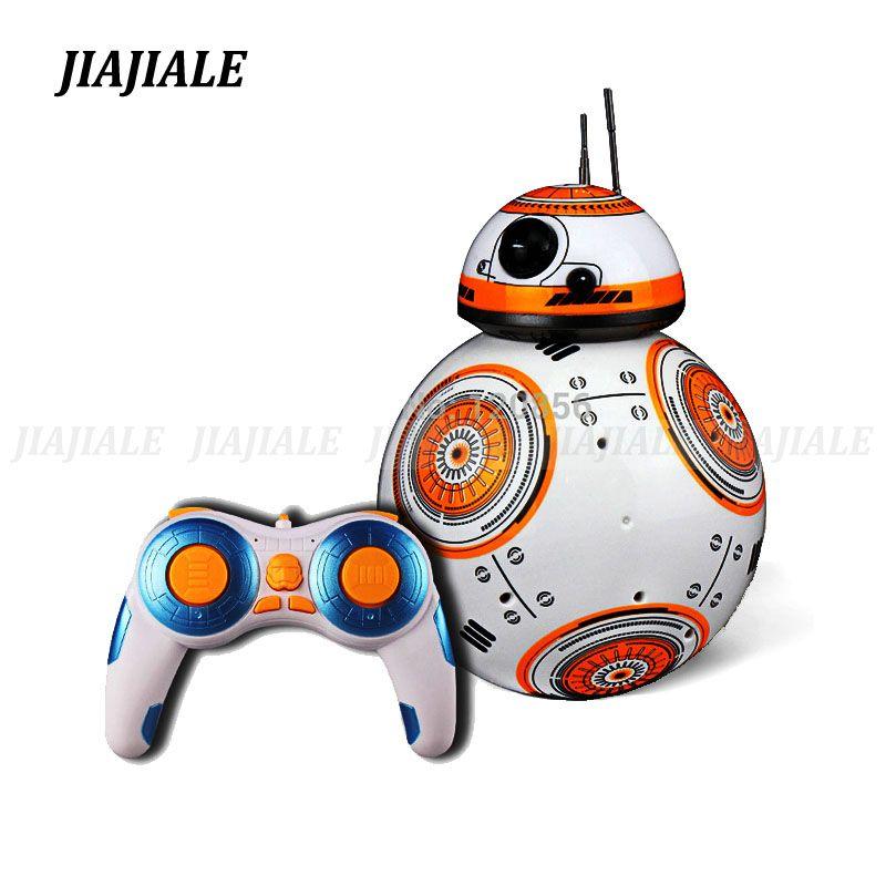 Livraison gratuite 17 cm Star Wars RC 2.4g BB Robot télécommande mise à niveau BB robot intelligent avec son RC ball kid cadeau garçon jouet
