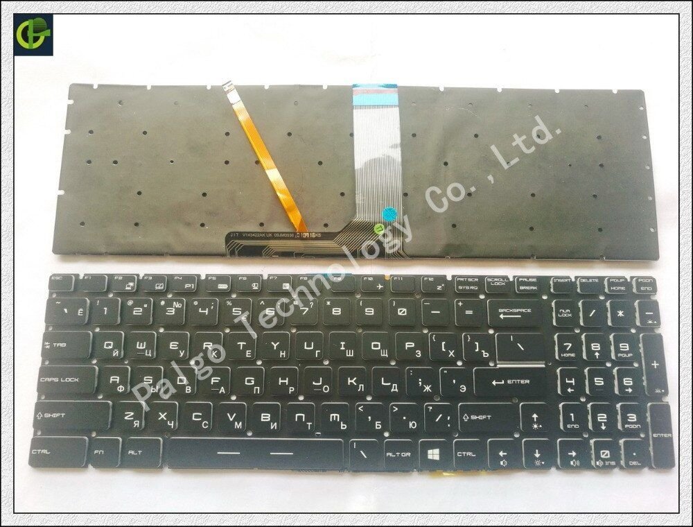 Русский клавиатура с подсветкой для MSI GT62 GT72 GE62 GE72 GS60 GS70 GL62 GL72 GP62 GP72 CX62 GS63VR GS73VR GT72VR GT83VR GE62V RU