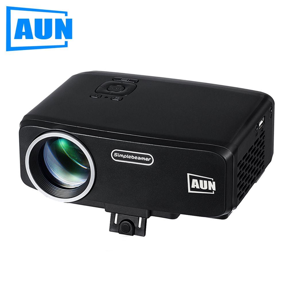 Аун проектор am9 начального уровня 800 люмен светодиодный проектор с ATV HDMI VGA Порты и разъёмы для детей Образование домашний кинотеатр мини про...