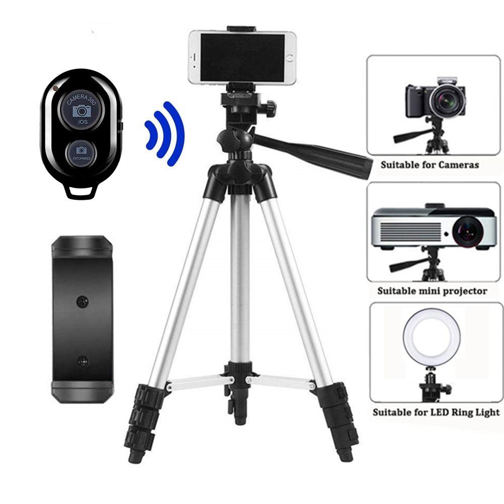 Trépied pour trépied Mobile caméra Dslr bâton Para Bluetooth support monopode Cam Box porte-photo Table Smartphone trépied pour appareil photo