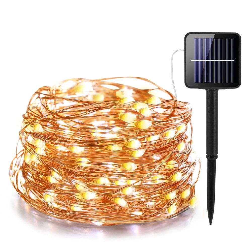 21 m/31 m/41 m/51 m LED lampe solaire extérieure LED s chaîne lumières fée vacances noël fête guirlande solaire jardin étanche lumières