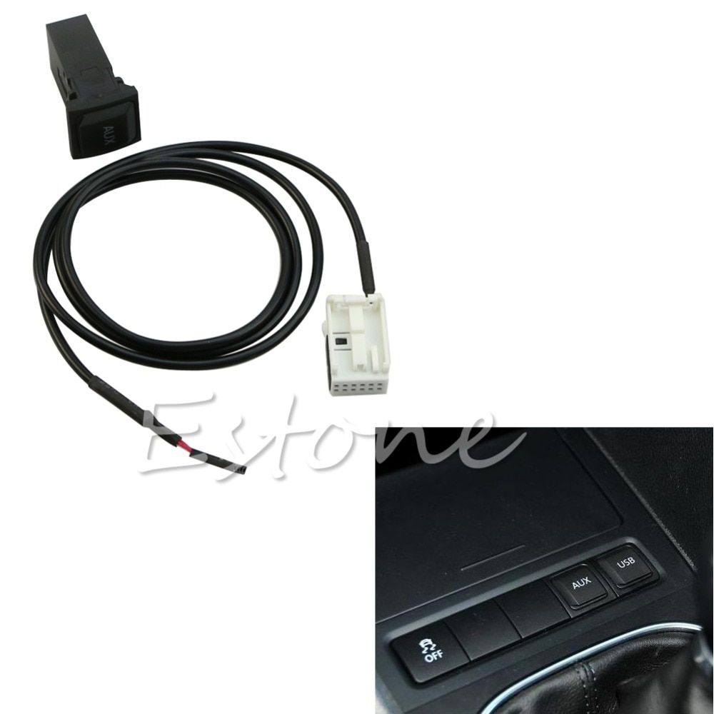 NoEnName_Null C18 2015 Newest Hot New for VW Jetta MK5 Scirocco Golf GTI MK5 MK6 RNS510 RCD510 AUX In Socket&Cable