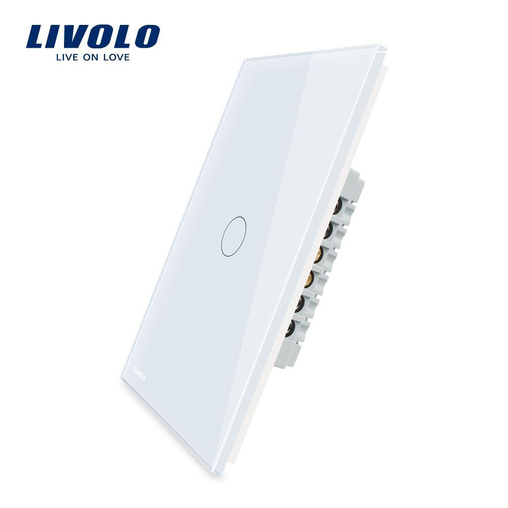 Livolo Manufacturer,AU/US standard Touch Screen Wall Light Switch, 1Gang 1 Way VL-C501-11/12