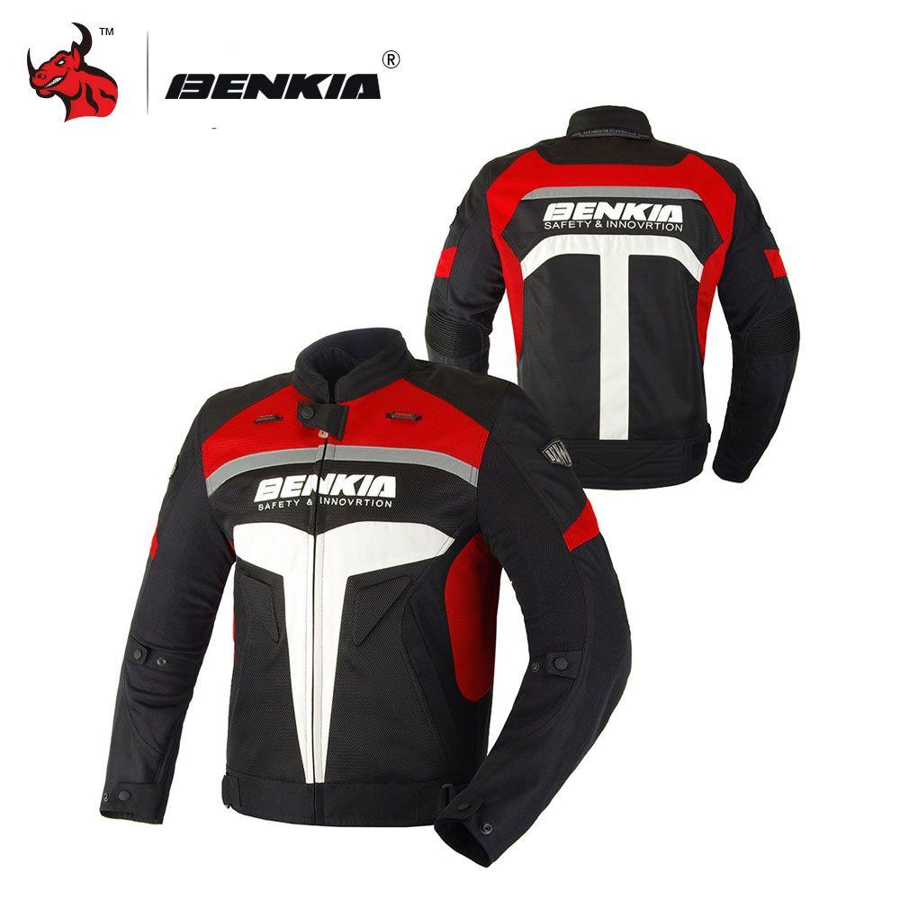 BENKIA Men Moto Jacket Motorcycle Summer Jcaket Men Racing Clothes Breathable Motorcycle Clothing Drop Resistance Clothing