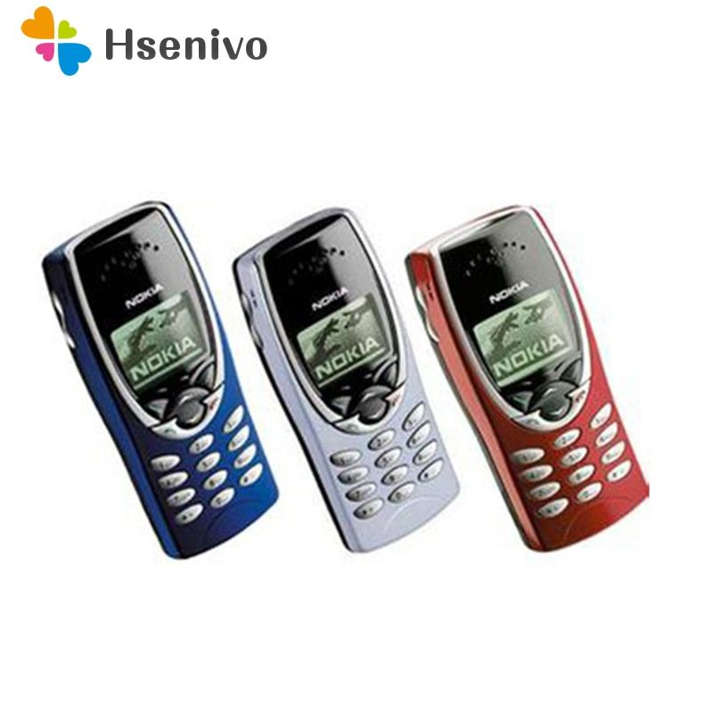8210 D'origine Nokia 8210 Débloqué Mobile Téléphone 2g Bibande GSM 900/1800 GPRS Classique Pas Cher téléphone Portable remis à neuf