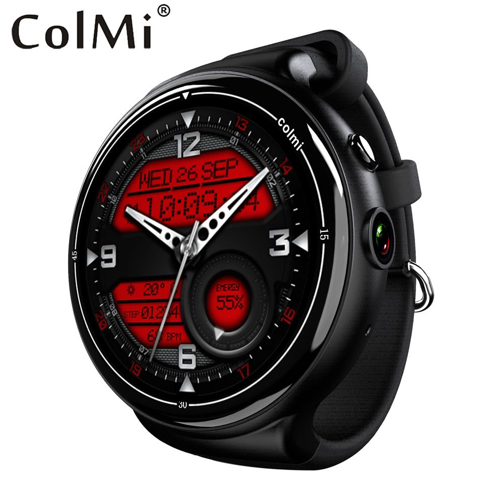 Colmi i2 Smartwatch Android 5.1 OS 2GB + 16GB 2MP WIFI 3G GPS Heart Rate Monitor Bluetooth 4.0 MTK6580 Quad Core Smart Watch