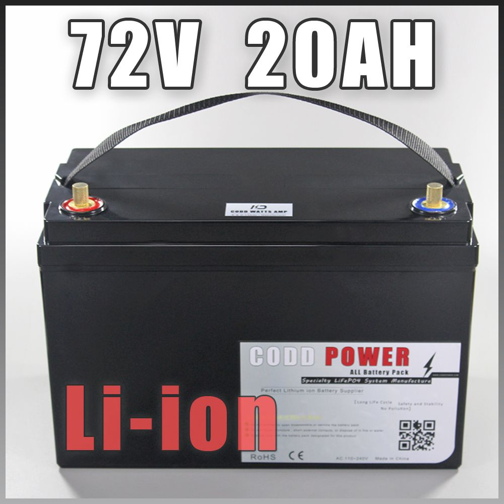 High Quality 72V 20AH Scooter battery 72V 20AH Lithium ion battery 72V Battery Pack Waterproof Case
