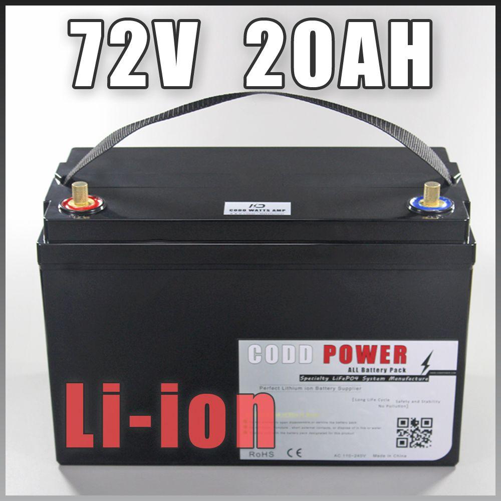 Hohe Qualität 72 V 20AH Roller batterie 72 V 20AH lithium-ionen-akku 72 V Akku Wasserdicht Fall