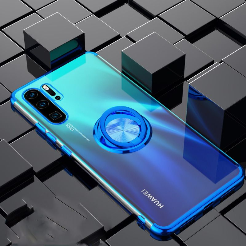 Elecplating Soft Case for Huawei P30 Pro 30Pro Mate 20 P20 Lite Nova 4 4e 3e Y7 Y5 Y6 2019 Honor V20 V10 Case Finger Ring Cover